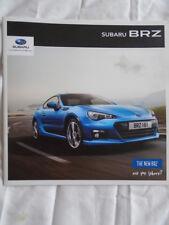 Subaru BRZ brochure 2013 ref SBZ001