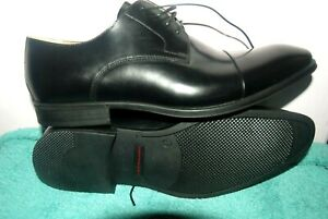 NEW;Men's STEPTRONIC FRANCO EU45 Black Leather Sheep Skin Flex Derby Shoes.£95+