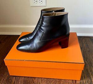 Hermes Selma Low Ankle Boot Black  Sz 41