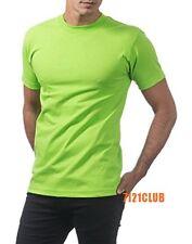 PRO CLUB COMFORT T SHIRT ProClub Men's Basic Plain Crew Neck Short Sleeve S-7XL