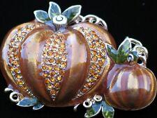 NIB NAPIER HALLOWEEN FALL AUTUM THANKSGIVING PUMPKIN PATCH PIN BROOCH JEWELRY 3D