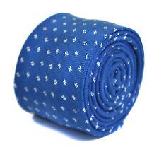 Frederick Thomas bleu roi 100% coton cravate hommes ft2164