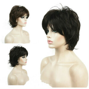 Fashion Ladies Wigs Women's Wig Short Brown Curly Natural Hair Wig+Wig Cap