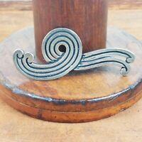 Vintage Los Castillo Taxco Sterling Silver Modernist Swirl Brooch Hallmark Rare