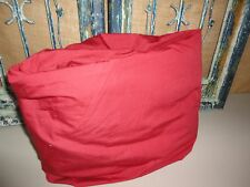 """CHAPS DAMASK RED TWIN FITTED SHEET 14"""" POCKETS 1005 COTTON"""
