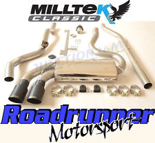 Milltek Audi Coupe UR Quattro 20v Turbo Exhaust System NonRes Downpipe Bk Black