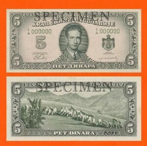 Yugoslavia 5 Dinar 1949.-1950.London  UNC - Reproductions