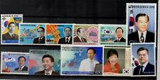 Korea President Inauguration Series Stamp sets  MNH