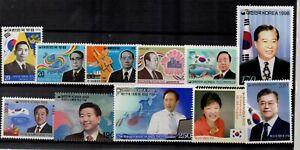 Korea President Inauguration Series Stamp sets  MNH