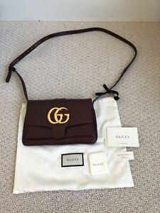 gucci arli burgundy Small crossbody handbag