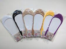 6 Pairs Women No Show Socks Foot Liner Ballet Footie Low Cut Multi Color New