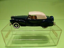 RIO  1:43  LINCOLN CONTINENTAL   BLUE -  GOOD CONDITION  - IN ORIGINAL SHOWCASE