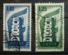 1956 ITALIE Europe 2 Valeurs usagé