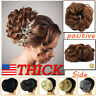 Real Thick Curly Messy Bun Hair Piece Scrunchie 100% Natural Hair Extensions UK
