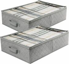 2x Under Bed Storage Bag Box Clothes Organizer Chest Shoes Container Home Closet