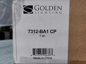 Bartlett 1-Light Copper Patina Bath Light by Golden Lighting