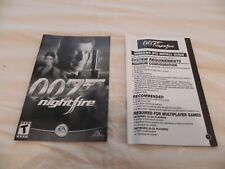 007 Nightfire, EA Games Game Book, and Installation Guide