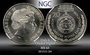 2017 AUSTRALIA 20 CENTS ASOM MID EAST OPERATION NGC MS63 ONLY 6 GRADED HIGHER #G