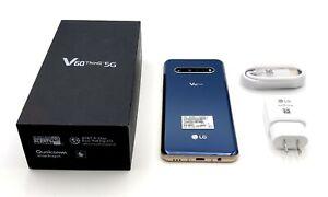 ATT Unlocked 🔥LG V60 🔥5G Blue 128GB 8K Video Cam- Never USED 🔥 w/ Retail Box
