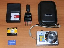 Sony Cyber-shot 7.2 MP Fotocamera con custodia e 2 batterie + Memory Stick 1GB