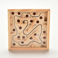 Puzzle Toys Wooden Labyrinth Balance Board Game Children Educationalca
