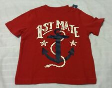 Boys T Shirt Sz 2T Old Navy Red 1st Mate Short Sleeve