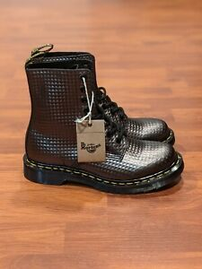 Dr. Martens 1460 Pascal Studded Combat Boots 'Pewter Metallic' (size us wmns 6)