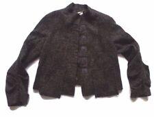 Sylvia Heise German Designer Blazer Jacket Lagenlook Wool Blend Gray Womens Sz14