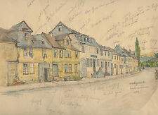 Janz Jantz Philipp Mainz 1813-1885 acquerello disegno Düsseldorf Schirmer Prof.