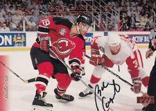 BOB CARPENTER, NEW JERSEY DEVILS, RARE AUTO'D/SIGNED NHL CARD.