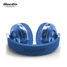 Wireless Bluetooth 4.1 Stereo Headsets T2 Plus Headphones Mic Micro-SD Slot Blue