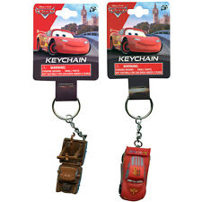 LOT 6 Disney Pixar Cars Lightning Mcqueen Mater Kids Keychains Birthday NEW