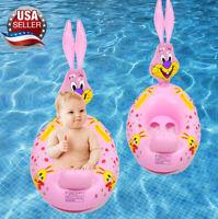 Pink baby toddler kids float Swimming inflatable pool float ring seat tube fun