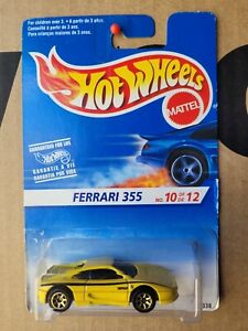 Hot Wheels 1995 - FERRARI 355 [YELLOW] 7SP GOLD WHEEL VARIATION VHTF NEAR MINT