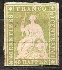 Switzerland Sc 19 mint hr fine