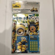 Minions 7 Piece Fun Calculator Set