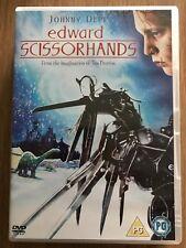 Johnny Depp EDWARD SCISSORHANDS ~ 1990 Tim Burton Cult Christmas Film UK DVD