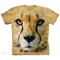 Big Face Cheetah T-Shirt by The Mountain. Zoo Animals Sizes S-5XL NEW