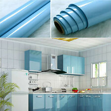 yazi Blue Contact Paper Self-adhesive Vinyl Cupboard Door Cover Film 61x50cm