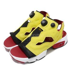 Reebok Insta Pump Fury Sandal Black Yellow Red White Women Sports Sandals EF2922