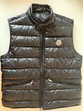 Moncler GUI Vest Gilet Men's Size 2 Black Color Excellent Condition