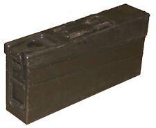 ORIGINAL USED GENUINE GERMAN MILITARY ARMY MG42 AMMO METALLIC OLIVE BOX CAN TIN