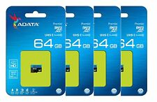 ADATA 64GB Micro SD HC Class 10 Memory Card For GoPro Hero4 Galaxy A3 A5 Pack 4