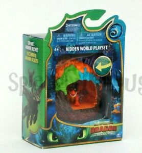 Dragons Verborgene Welt Spielset Drache und Höhle Mini Drachenfigur NEU