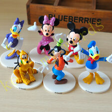 6 Pcs Disney PVC Classic Figure Cake Topper Mickey Mouse ClubHouse Minnie Donald