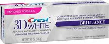 Crest 3D White Brilliance Toothpaste, Vibrant Peppermint 4.1 oz (Pack of 2)
