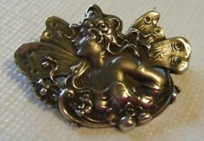 VINTAGE PIN BROOCH OR PENDANT FAIRY W/WINGS STERLING REPOSE STYLE HIGH DEF 3D