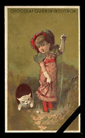 Vintage French Trade Card: Rare Original Antique Early 1900's Advertising Cat