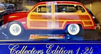 Terah Collectors Edition 1949 Ford Woodie Wagon Red 1/24 Scale Diecast UNOPENED