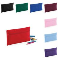 2x 3x 5x Pack Plain Pencil Case School Office Stationary Bag Zipper Make Up Bag